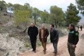 Cerdá  visita los trabajos de regeneración de la zona  incendiada de Moratalla y los embalses de regulación de las zonas regables