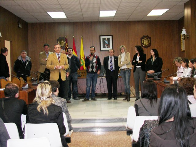 Recepción oficial en Archena a los estudiantes y profesores europeos del Programa Comenius-Las Migraciones procedentes de cuatro países - 1, Foto 1