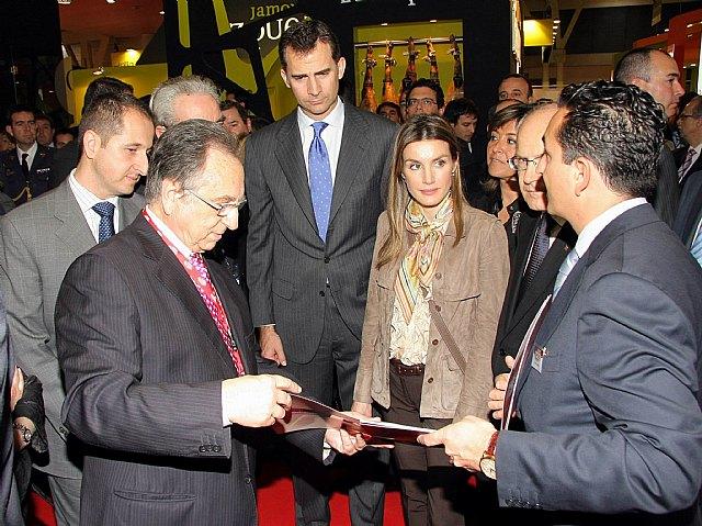 Sus Altezas Reales los Príncipes de Asturias visitaron este lunes el stand de ElPozo Alimentación en la Feria Alimentaria de Barcelona, Foto 1