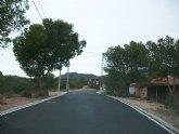 Finalizan las obras de pavimentación de los caminos del Mazarronero, Síes y Salas