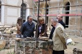 Diana Asurmendi visita las obras de rehabilitación del Convento San Francisco
