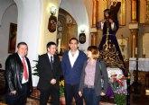 Cultura entrega el Nazareno de Albudeite restaurado tras seis meses de trabajo