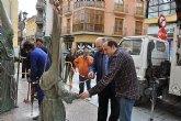 Homenaje a la Semana Santa de Mula con la inauguración del Monumento al Nazareno