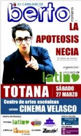 El conocido cómico, co-presentador del programa Buenafuente de laSexta, llega a Totana