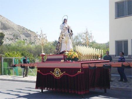 Inaugurado y bendecido el nuevo trono que portará estos desfiles a Santa Maria Magdalena - 1, Foto 1