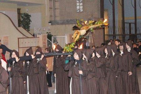 Vía Crucis del Cristo Crucificado de la Parroquia del Corpus-La Purísima que también inicia así  sus actos de Semana Santa - 1, Foto 1