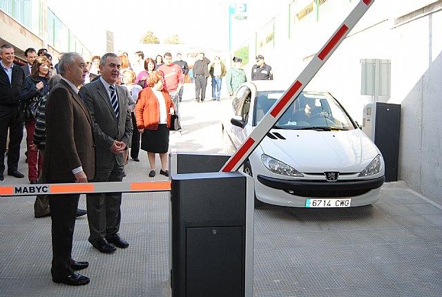 El delegado del Gobierno y el alcalde de Abarán inauguran el nuevo aparcamiento subterráneo - 1, Foto 1