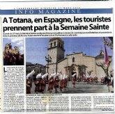 El periódico frances L'Independant se hace eco de la grandeza de la Semana Santa totanera en un reportaje que ha sido publicado recientemente