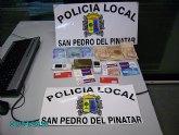 """La Policía Local incauta un """"fardo de hachís"""" de aproximadamente 15 cm de longitud y 4 cm de grosor"""