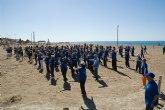 Muestra de senderismo y gerontogimnasia en Puerto de Mazarrón