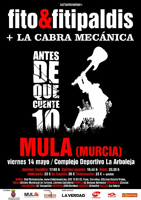 Fito y los Fitipaldis ofrece en Mula su primer concierto en la Región de su gira Antes de que Cuente 10 - 1, Foto 1