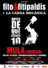Fito y los Fitipaldis ofrece en Mula su primer concierto en la Región de su gira Antes de que Cuente 10