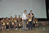 El ciclista muleño Luis León Sánchez preside la presentación de la Escuela de Ciclismo Sun&Racing Mula