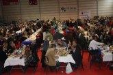 Mil personas llenan el Polideportivo de Roldan en la XXVI Jornada de convivencia de Mayores