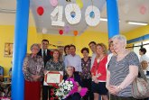 El alcalde de Totana y el concejal de Bienestar Social rinden un emotivo homenaje a la centenaria Ana Díaz Castro
