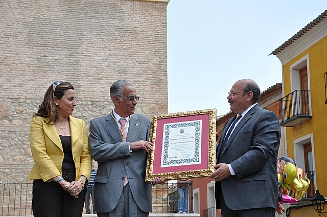 Francisco del Amor recibe el título de Hijo Predilecto de la Ciudad de Mula en el marco de las Fiestas de San Isidro, patrón de la huerta - 2, Foto 2