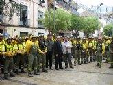 200 miembros de las Brigadas Forestales de Murcia peregrinan a Caravaca por la Vía Verde