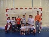 El equipo benjamín del colegio Reina Sofía participa en la jornada de los cuartos de final de multi-deporte benjamín en Abarán