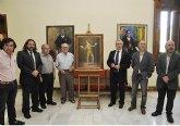 La familia de García Espinosa dona un cuadro del pintor a la Universidad de Murcia