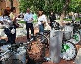 Obras P�blicas financia cuatro puntos de pr�stamo gratuito de bicicletas en el centro de Alhama