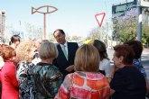 Una escultura inaugurada hoy por el Alcalde identifica a Murcia como Ciudad Sostenible