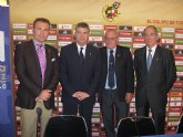 Los Ayuntamientos de Murcia, Caravaca y la Federación Española de Fútbol firman un convenio para la celebración del partido de la Selección España-Polonia
