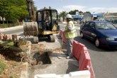 Construyen imbornales en las inmediaciones de la glorieta del Polígono de Santa Ana