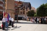 Alcantarilla cuenta desde hoy con una escultura de La Bruja, en homenaje a las Peñas Festeras y a sus peñistas