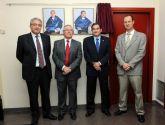 El rector inauguró la galería de decanos de la Facultad de Matemáticas