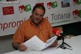 IU: El Ayuntamiento de Totana, con una deuda superior a los 100 millones de euros, amplía la plantilla