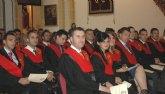 Los criminólogos de la UCAM reciben sus becas y diplomas.