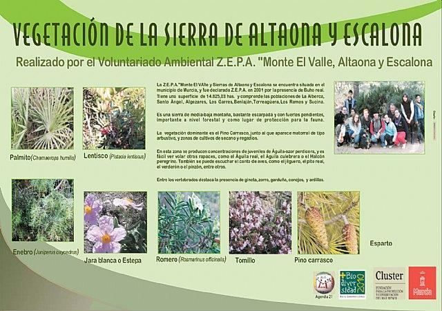 Un póster recoge el censo de fauna y flora de Altaona y Escalona creado por los voluntarios ambientales - 1, Foto 1