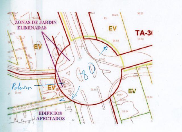 Alarcón exige a Cámara la paralización de las obras de la rotonda de la carretera de La Alberca- Avenida Primero de Mayo - 1, Foto 1