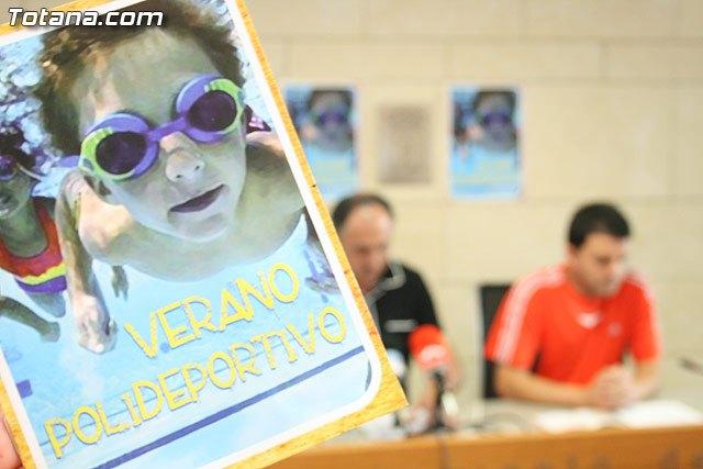 La concejal�a de Deportes presenta un refrescante programa de actividades del Verano Polideportivo 2010 para niños, j�venes y adultos, Foto 2