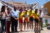 La ciclista de Torre-Pacheco, Gloria Rodríguez se coloca líder de la Copa de España de Ciclismo Juvenil
