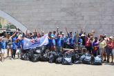 Cerca de 70 voluntarios extraen 1.413 kilos de basura del entorno de El Estacio y el fondo de el Mar Menor