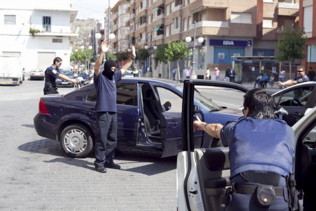 Simulacro policial en una joyería mazarronera - 1, Foto 1