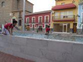 IU de Pliego alerta del peligro de la fuente de la plaza por su profundidad