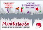 El próximo domingo 27 de junio Izquierda Unida saldrá a la calle