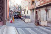 Obras en la calle del Pino