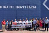 El PSOE de La Unión exige la inmediata apertura de la piscina