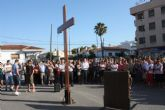 La Cruz y el Icono de las Jornadas Mundiales de la Juventud visitan Torre-Pacheco