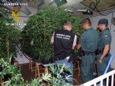 La Guardia Civil desmantela un punto de producción y distribución de marihuana en Las Torres de Cotillas