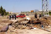 Los Bomberos inspeccionan 40 hogueras en el término municipal