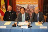 Alquerías recuperará su iglesia restaurada gracias al acuerdo entre el Ayuntamiento, Obispado y CajaMurcia