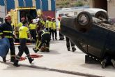 Bomberos y 061 se unen para actualizar sus conocimientos en accidentes de tráfico
