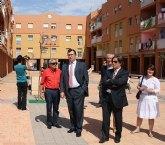 La Comunidad finaliza la rehabilitación de las  viviendas sociales de la barriada de la Caridad en Cartagena
