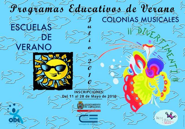 Mañana jueves empiezan las actividades de verano de la Concejalía de Educación - 1, Foto 1