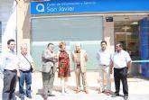 La alcaldesa y el director regional de Aquagest inauguran las nuevas oficinas del servicio municipal de aguas en San Javier