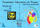 Mañana jueves empiezan las actividades de verano de la Concejalía de Educación